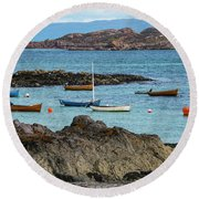 Inner Hebrides Transportaion Round Beach Towel