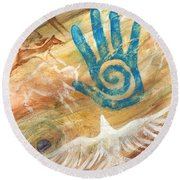 Inner Journey Round Beach Towel by Brandy Woods