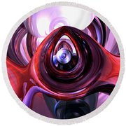 Inner Peace Abstract Round Beach Towel