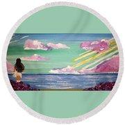 Inner Reflection Round Beach Towel