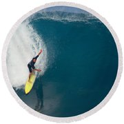 Inner Reflection Round Beach Towel by Kevin Smith