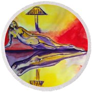 Inner Reflections Round Beach Towel