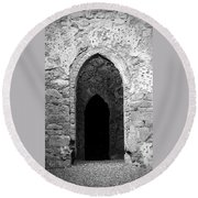 Inner Sanctum Fuerty Church Roscommon Ireland Round Beach Towel