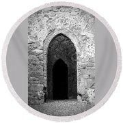 Inner Sanctum Fuerty Church Roscommon Ireland Round Beach Towel