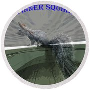 Inner Squirrel Art #1 Round Beach Towel