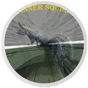 Inner Squirrel Art #2 Round Beach Towel