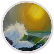 Inner Tide Round Beach Towel