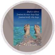 Innerthoughts Round Beach Towel