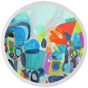 Insatiable Round Beach Towel