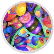 Insect Masquerade Party Round Beach Towel