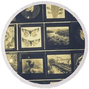 Insects Round Beach Towel