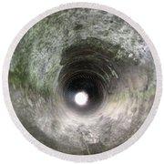 Inside A 20mm Submarine Deck Gun Barrel Round Beach Towel
