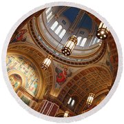 Inside Saint Matthew's Cathedral -- At An Angle Round Beach Towel