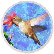 Inside The Flower - Impressionism Finish Round Beach Towel