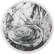Inside The Forest Round Beach Towel
