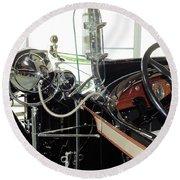 Inside The Packard - 2 Round Beach Towel