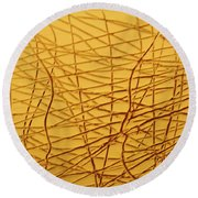 Insights - Tile Round Beach Towel
