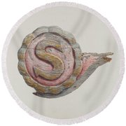 "Insignia Letter ""s"" Round Beach Towel"