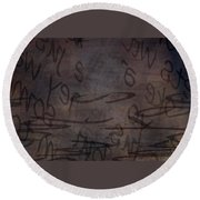 Insignificance Round Beach Towel
