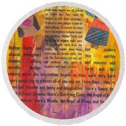 Inspiration Angels II Round Beach Towel