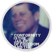 Inspirational Quotes - Motivational - John F. Kennedy 9 Round Beach Towel