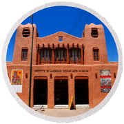 Institute Of American Indian Arts Museum Round Beach Towel