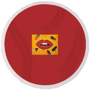 Intake Creativity  Round Beach Towel
