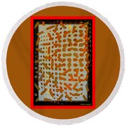 Intellectual Ameba Bacteria Synapse Round Beach Towel