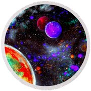 Intense Galaxy Round Beach Towel