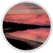 Intense Pink Round Beach Towel