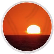 Intense Sunset Oregon Round Beach Towel