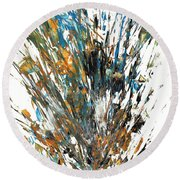 Intensive Abstract Painting 519.112011 Round Beach Towel