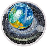 Interactive Space 2 Round Beach Towel