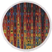 Interesting Abstract Round Beach Towel
