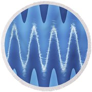Interesting Cloud Abstract Round Beach Towel