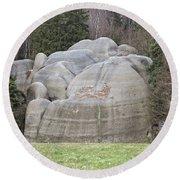 Interesting Rock Formation - Elephant Rocks Round Beach Towel