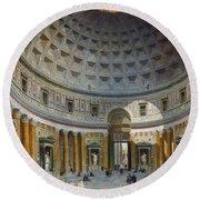 Interior Of The Pantheon Round Beach Towel