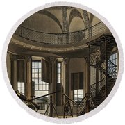 Interior Of The Radcliffe Observatory Round Beach Towel