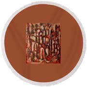 Interior Round Beach Towel