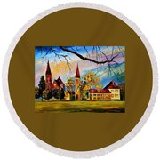 Interlaken Switzerland Round Beach Towel