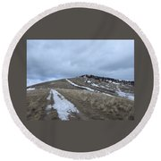 Intermittent Path Round Beach Towel