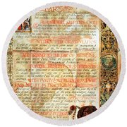 International Code Of Medical Ethics Round Beach Towel by Science Source