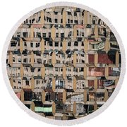 International Gem Tower - 50 W 47th St Building In Nyc Round Beach Towel