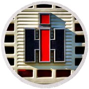 International Harvester Logo Round Beach Towel