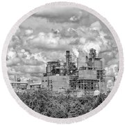 International Paper Company Round Beach Towel