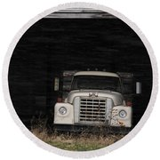 International Truck Round Beach Towel