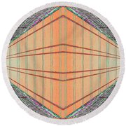 Intersect Round Beach Towel
