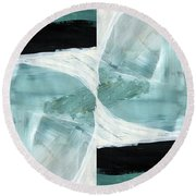 Intersection 37 Part 2- Art By Linda Woods Round Beach Towel