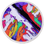 Intersection Round Beach Towel