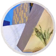 Intersection Number One Las Vegas Round Beach Towel